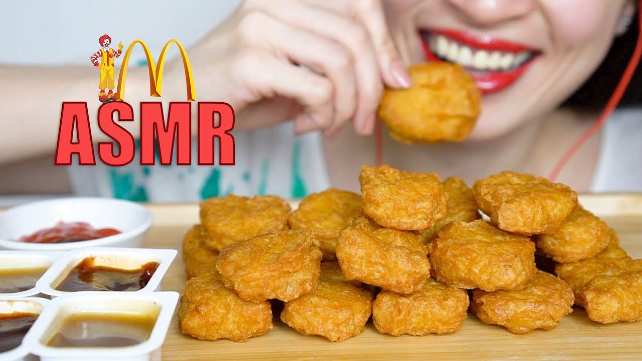Asmr Eating Sounds Mcdonalds Chicken Nuggets Challenge Auzsome Austin Sas Asmr No Talking