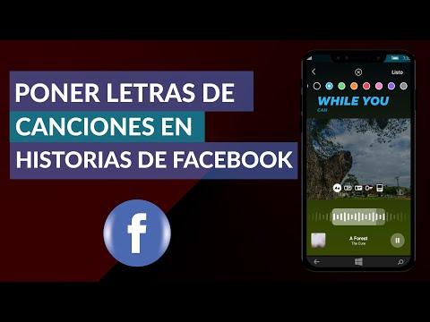 Cómo Poner Letras de Canciones en Historias de Facebook   Facebook Stories Letras