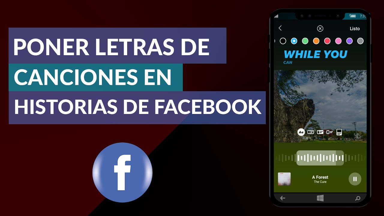 Cómo Poner Letras De Canciones En Historias De Facebook Facebook Stories Letras Youtube