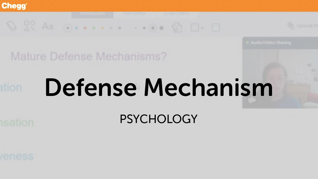 Defense Mechanisms Psychology Chegg Tutors Youtube