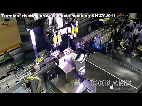 Terminal riveting and assemble machine Industry camera Detection  Terminal makine montajı