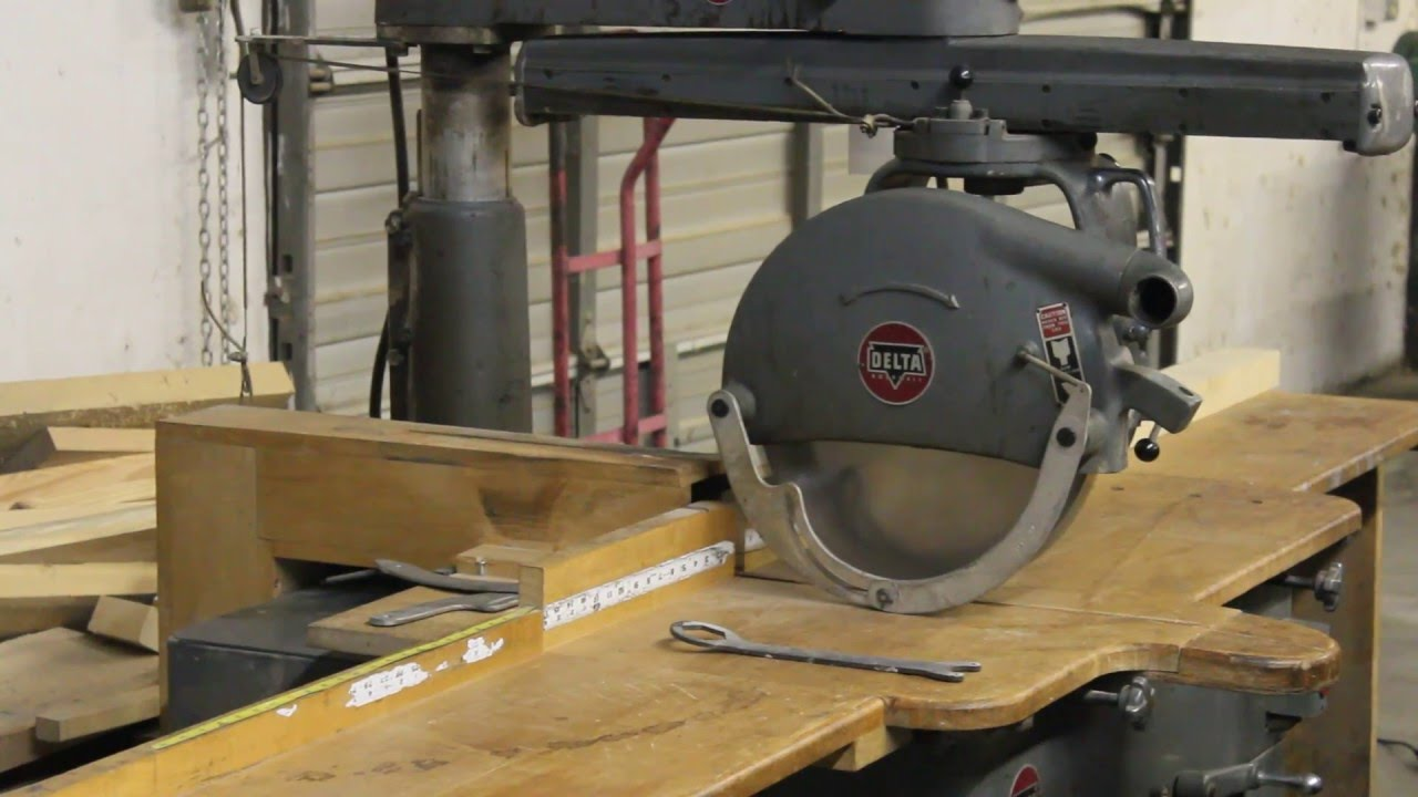 lot 70 delta rockwell 50c radial arm saw youtube