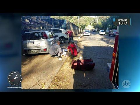 Técnico é baleado na cabeça durante suposto assalto em SP | SBT Notícias (26/06/18)