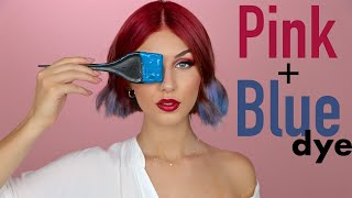 Dyeing my hair Pink and Blue