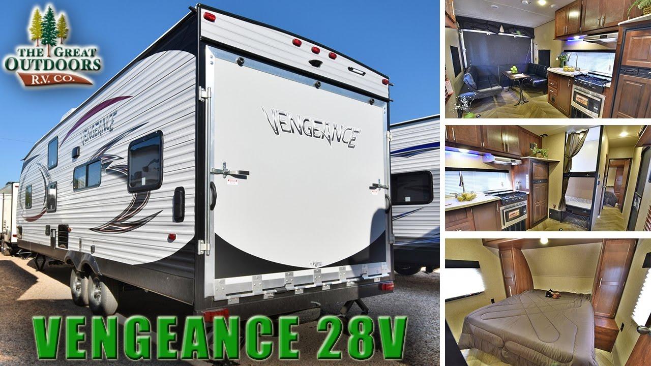 2017 Forest River Vengeance 28v V128 Toy Hauler Bunk Beds Trailer Rv