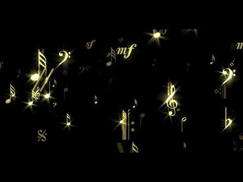Music Notes - Glittreing Flow - Background Loop