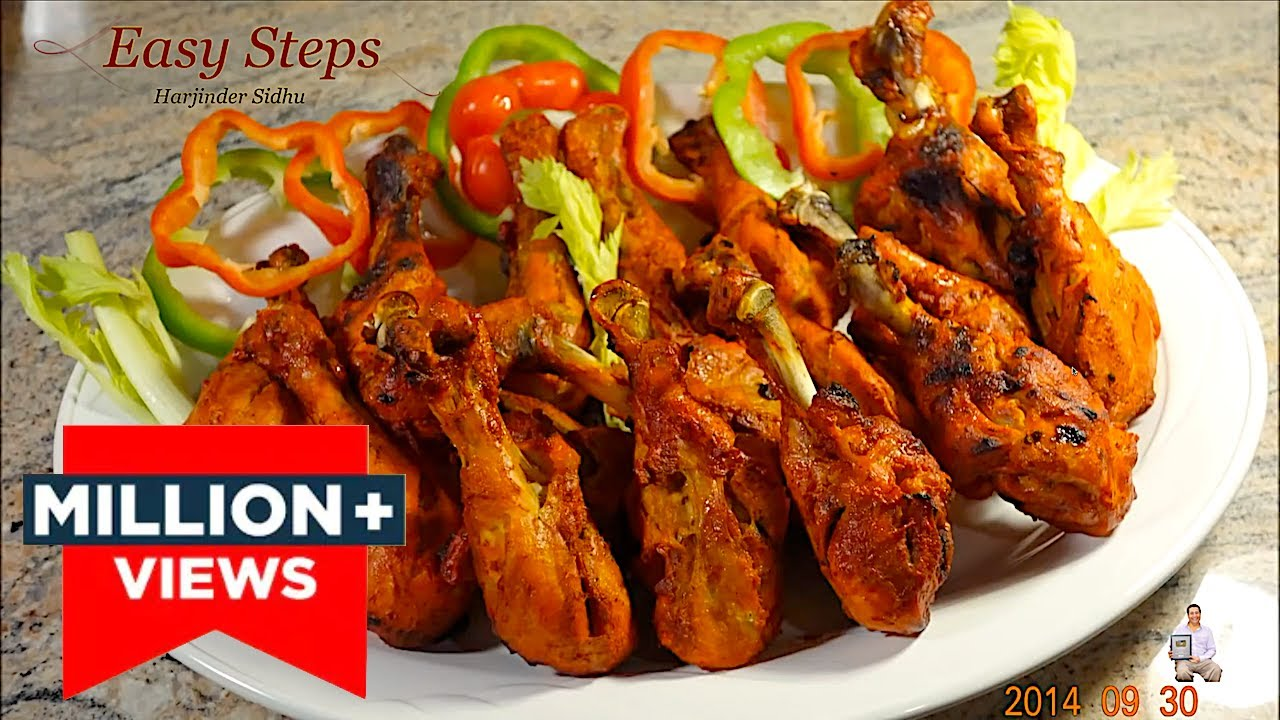 Oven Roasted Tandoori Chicken Drumsticks Healthy Cooking