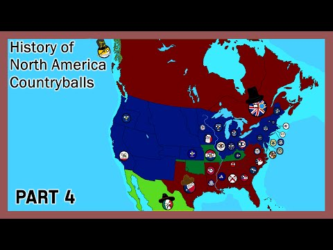 History of North America (Countryballs) - Part 4 - American Civil War