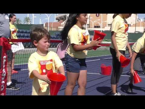 VIDEO Tennis Legend Rosie Casals teaching kids clinic