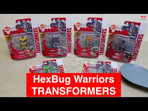 All 6 Transformer HexBug Warriors - Play Test Review with 7 Battles - Autobots v's Decepticons