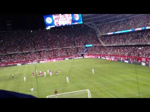 FC Bayern goal song in Chicago