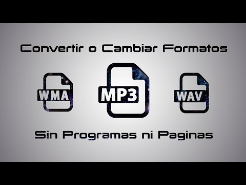 Convertir cualquier archivo de audio a Mp3 sin programas ni paginas ► Windows 10, 7, 8, y 8.1