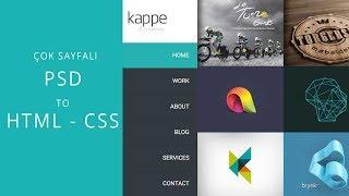 Çok Sayfalı PSD To HTML : Ders 1