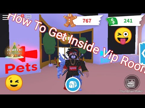 How To Get Inside The Vip Room In Adopt Me For Free!