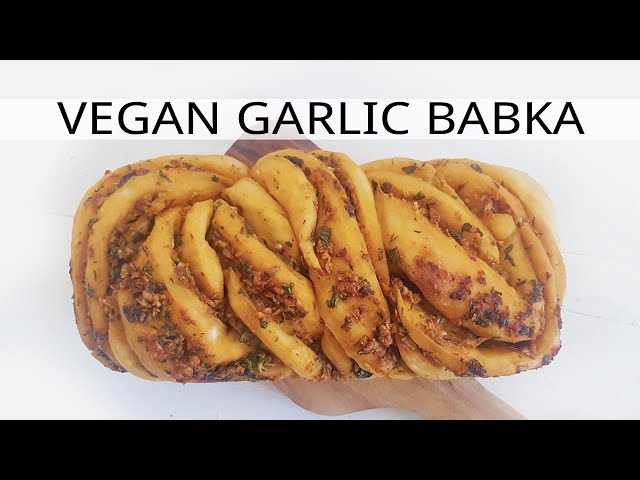 Vegan Babka (Braided Garlic Bread)  마늘 빵