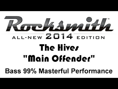 "The Hives ""Main Offender"" Rocksmith 2014 Bass 99%"