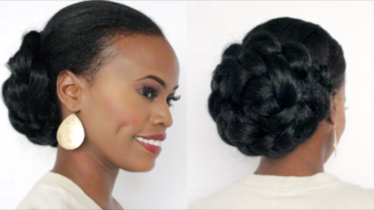 Easy Natural Hair Protective Style Updo Youtube