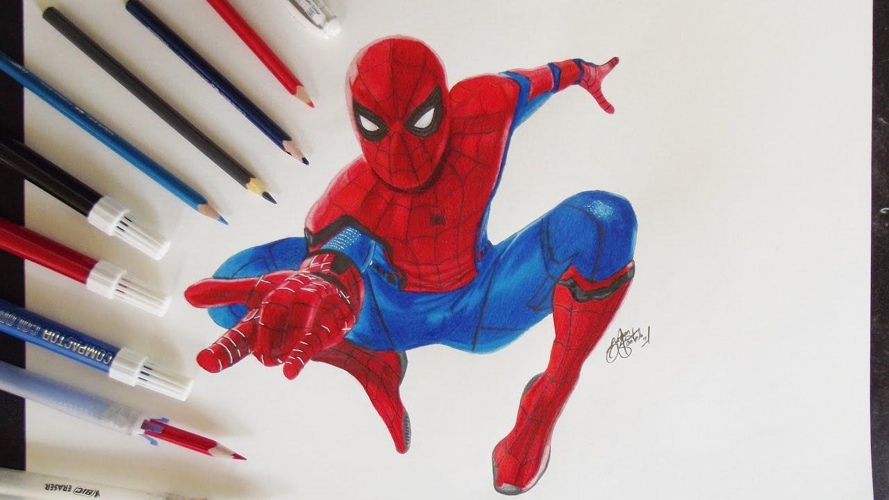 Speed Drawing Spider Man HomeComing / Homem Aranha De