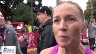 Marilyn Arsenault Interview 2014 GoodLife Fitness Victoria Half Marathon