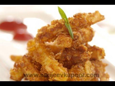 Crusty potato Fingers   Chef Anirudh   Sanjeev Kapoor Khazana