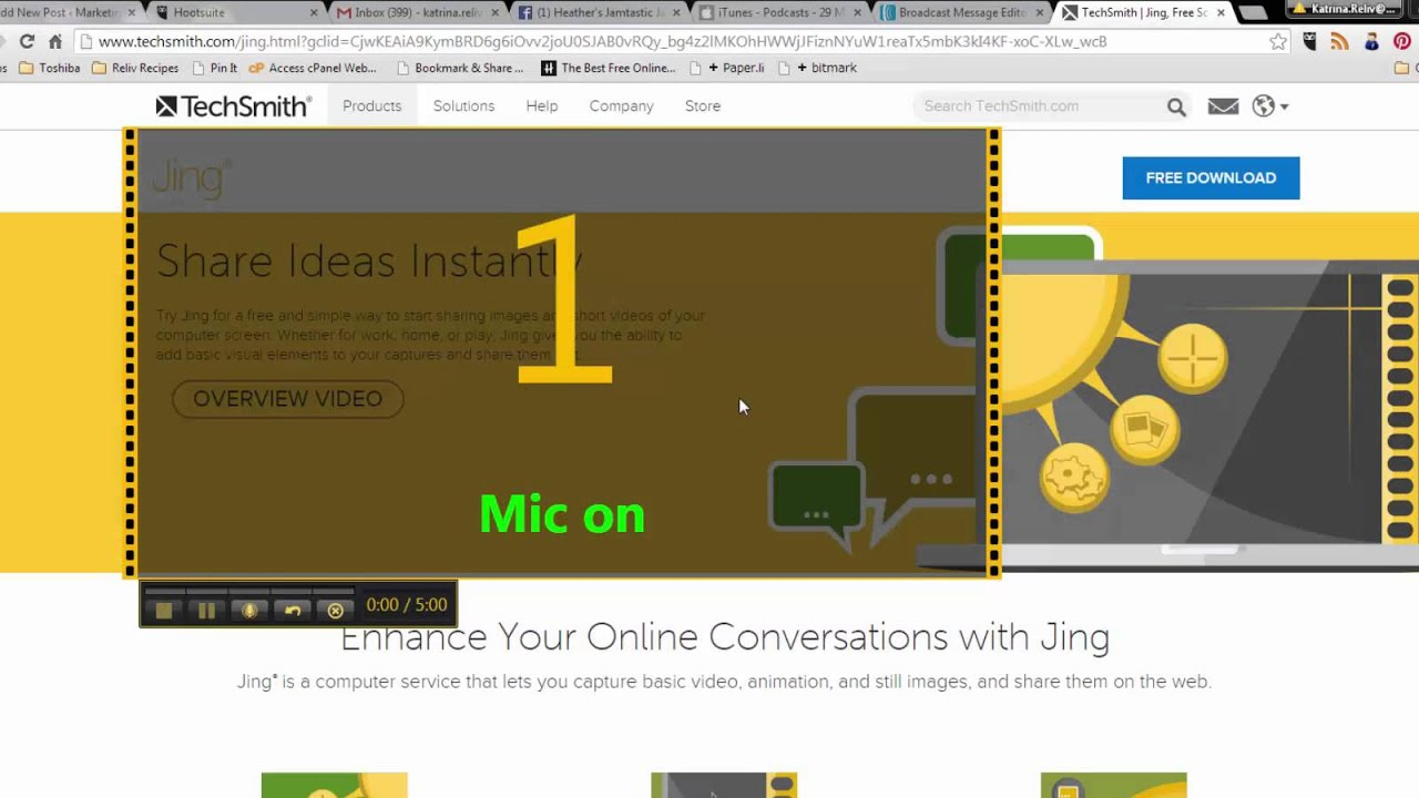 jing screen capture free download for windows