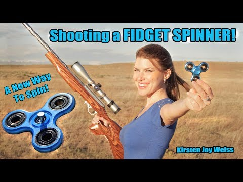 Shooting A Fidget Spinner! - A New Way To Spin | Trick Shot