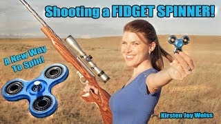 Shooting A Fidget Spinner!? - A New Way To Spin | Trick Shots