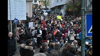 Demonstration gegen die Schließung der Geburtshilfe Daun