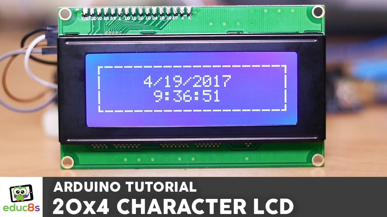 arduino tutorial 20x4 i2c character lcd display with arduino uno from banggood com [ 1280 x 720 Pixel ]