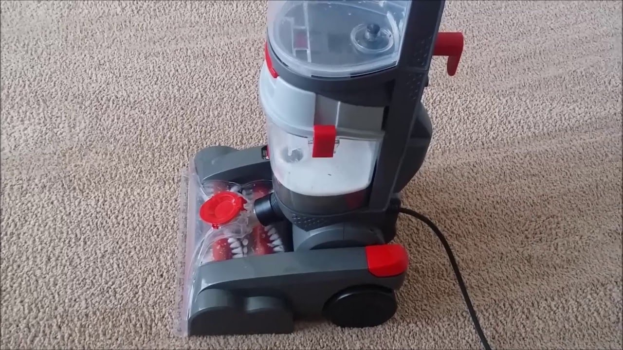 Hoover Power Path Deluxe Carpet Washer Cleaner In Test Run