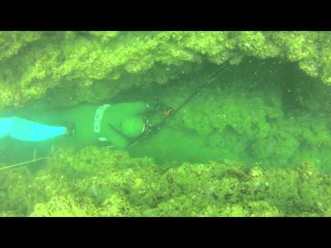 Spearfishing kob in southern Angola