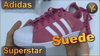 Adidas Superstar J Suede Pink F37137 / Adidas Originals Pink-White-Gold Junior