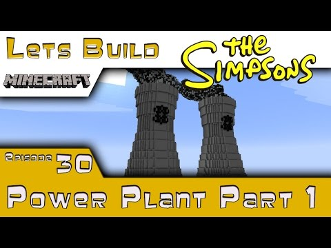 Minecraft :: Springfield Lets Build :: Power Plant Part 1 :: E30