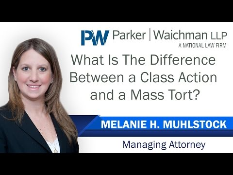 The Differences Between A Mass Tort & A Class Action Lawsuit - NY Lawyer Melanie Muhlstock explains