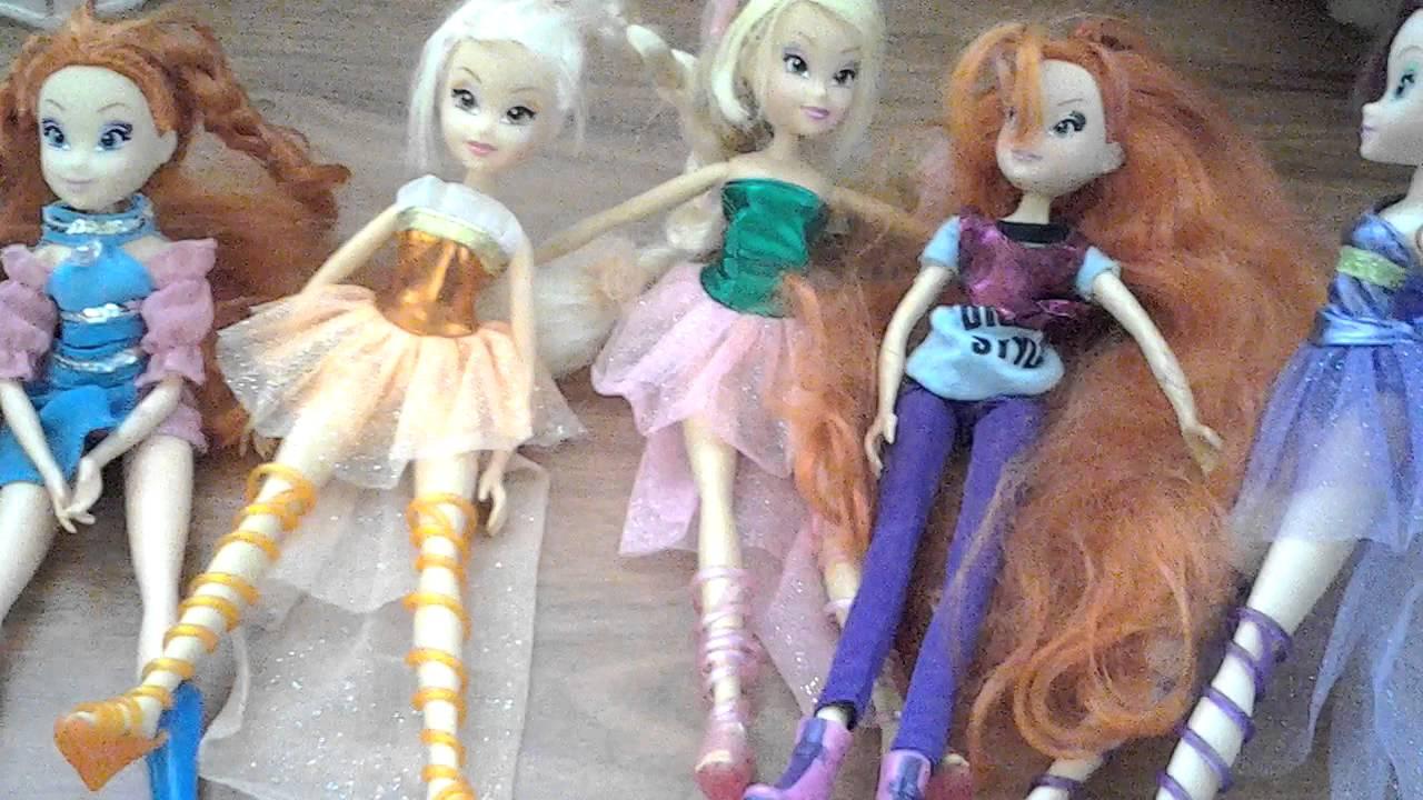 Мои куклы Винкс - YouTube