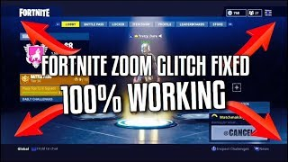 FORTNITE BATTLE ROYALE SCREEN ZOOM GLITCHED SOLVED 100% WORKING