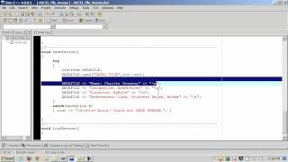 C++ Sequential File Access - Part 1 of 3 - fstream, ofstream, ifstream