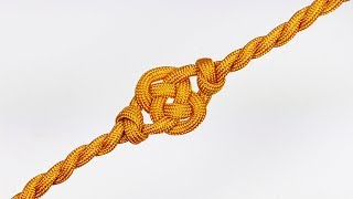 """How You Can Make A Double Coin Knot Twisted Parachute Cord Bracelet Without Buckle"