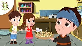 My Favorite Pizza Story - Hindi Kahaniya for Kids - Cartoon Stories for Children