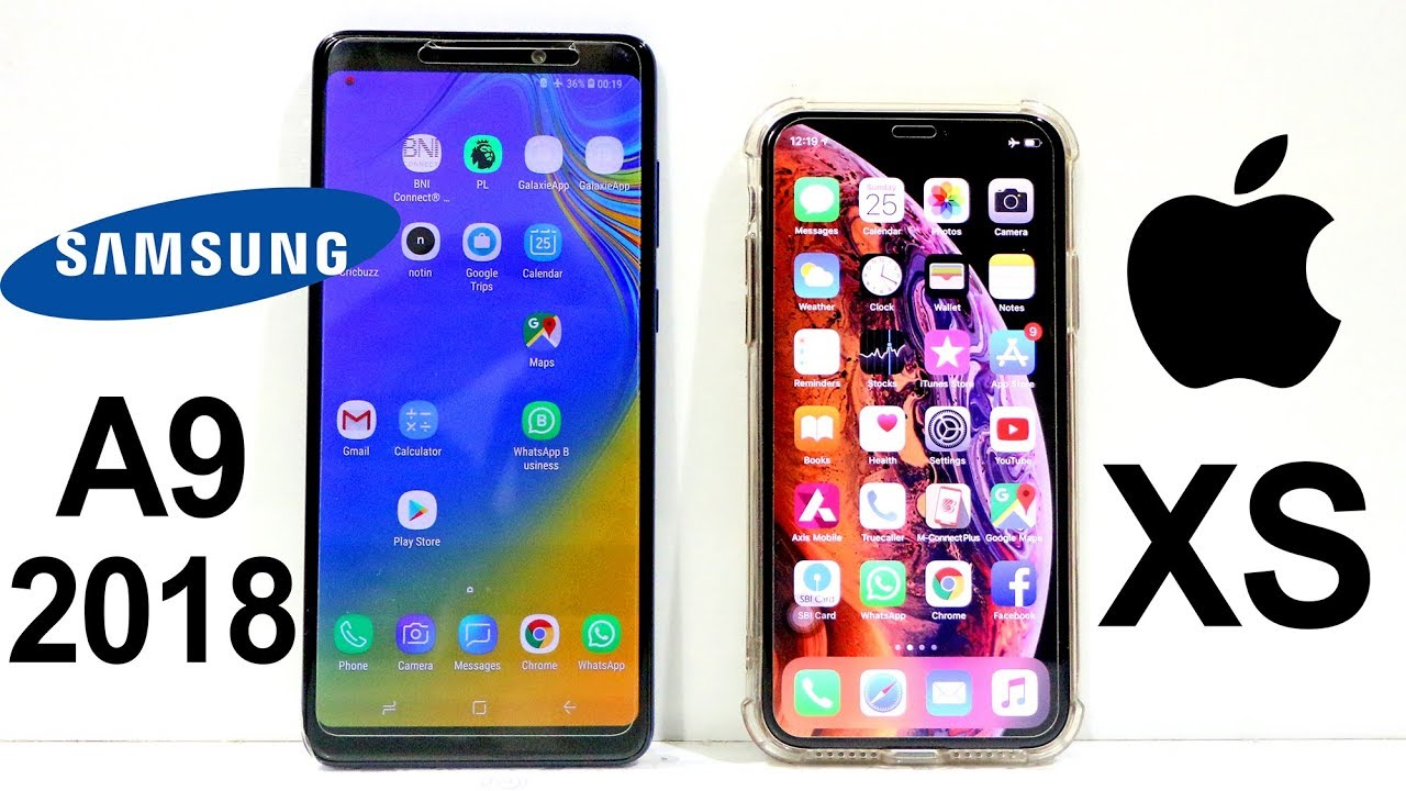 Samsung Galaxy A9 2018 Vs Iphone Xs Speed Test Youtube