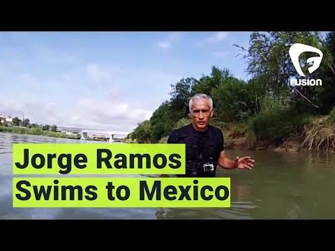 Watch Jorge Ramos Swim Across the Rio Grande