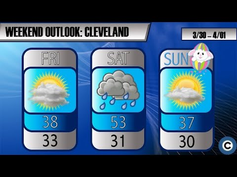 Quick warm-up, rain Saturday before sun moves in Easter Sunday: Northeast Ohio weekend weather forecast (video)