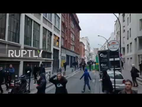 France: Police tear gas protesters in Paris after Macron takes elections