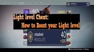 Destiny Light level Cheat: How to Raise your light in TTK