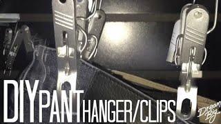 DIY Pant Hanger/Clips