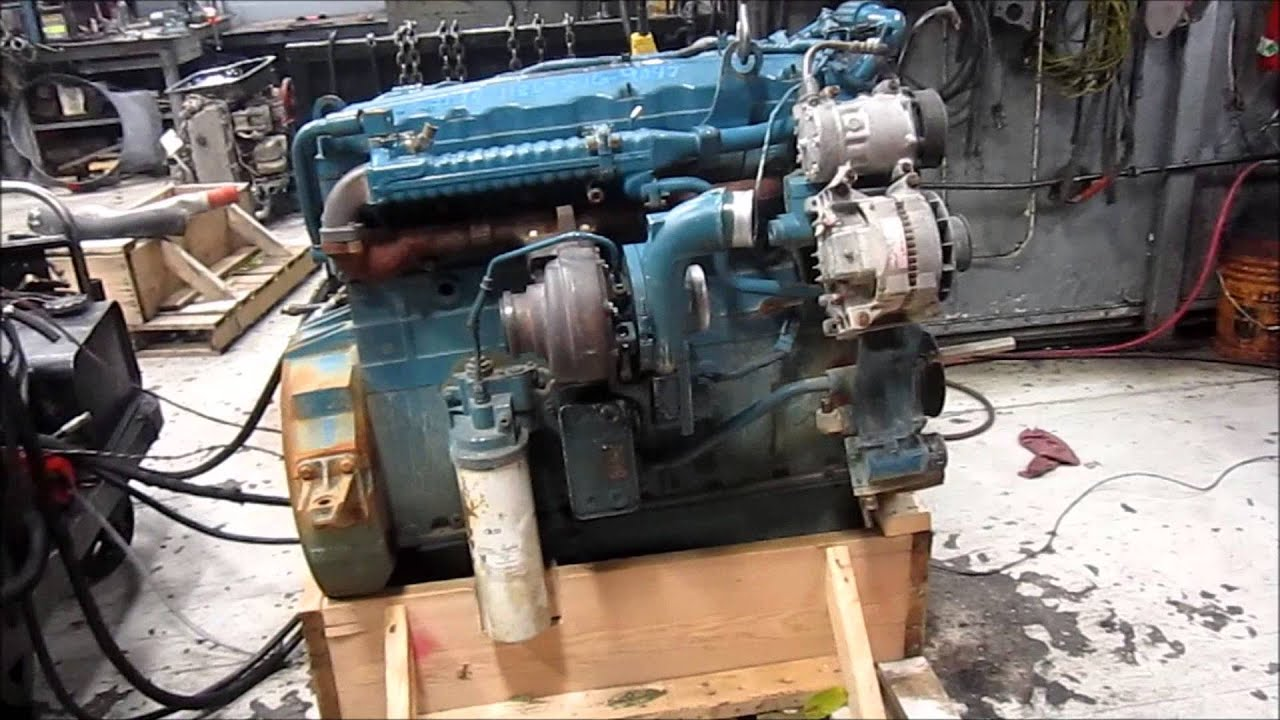 2004 international dt466e egr engine running