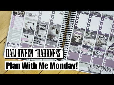 Plan With Me Monday || Darkness Halloween Spread!
