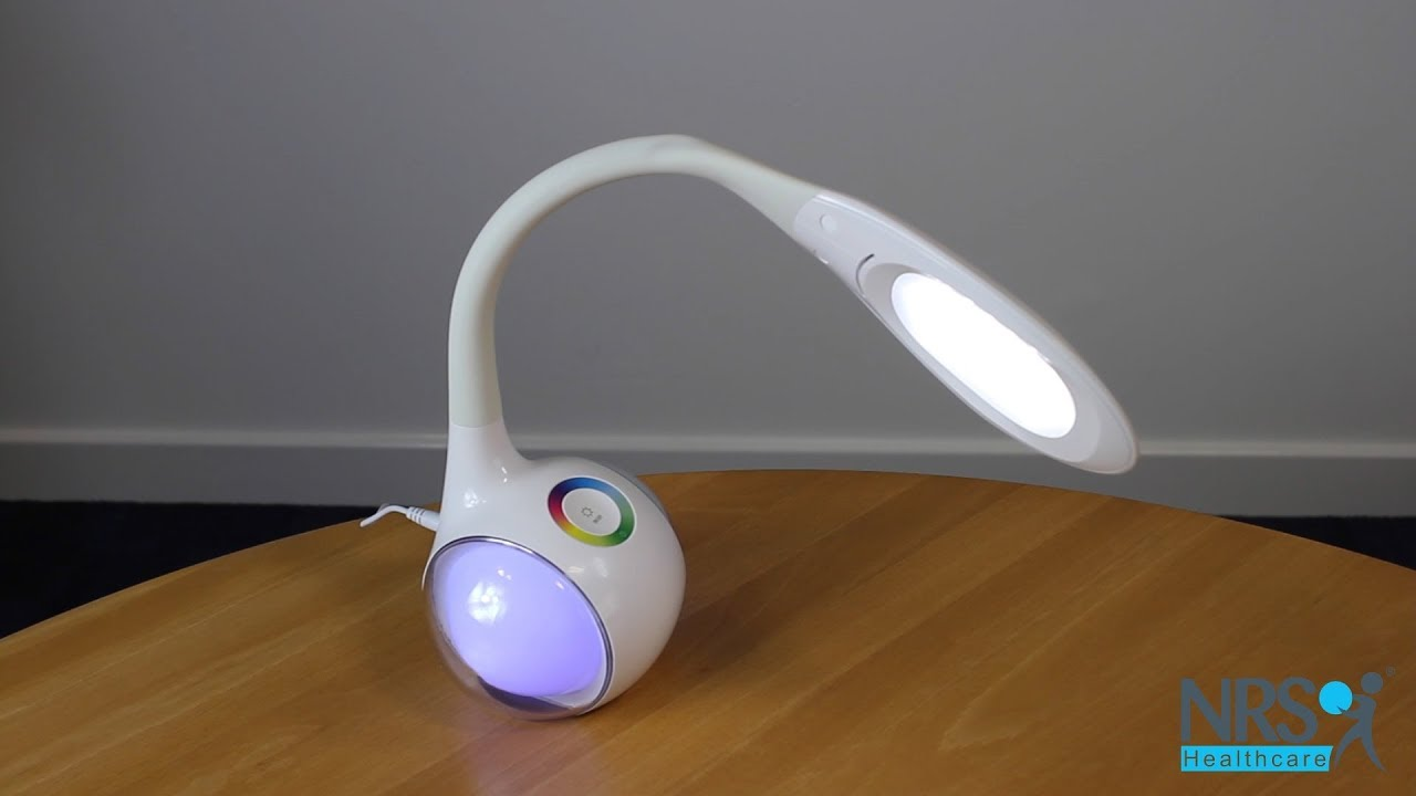 cfbc11be1807 Dimmable LED Desk Lamp With Colour Changing Base - NRS Healthcare