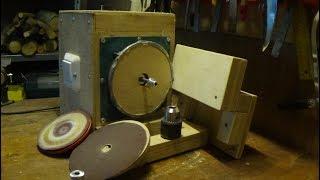 Шлифовальный станок из старого пылесоса. Часть 2 - Заработало!
