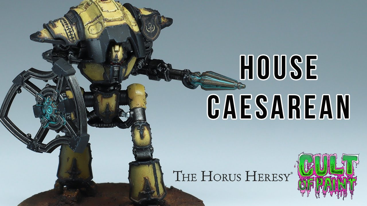 How to Paint Knight Household Caesarean for Games Workshop's Adeptus Titanicus